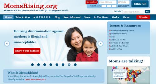 momsrising-homepage-e1369840572454