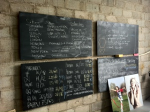 studio blackboard