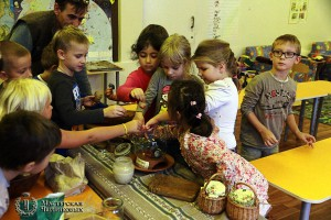 children making tea